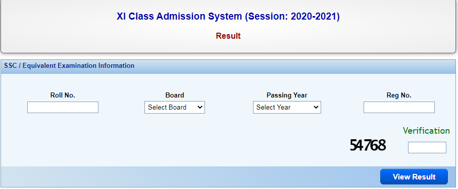 xi college admission results
